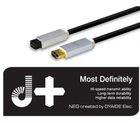 Neo/Oyaide D+ Firewire 6pin-6pin (400Mbps-400Mbps) 1M