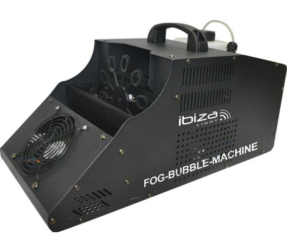 Ibiza Lights 3-in-1 Fog Bubble Machine Angle