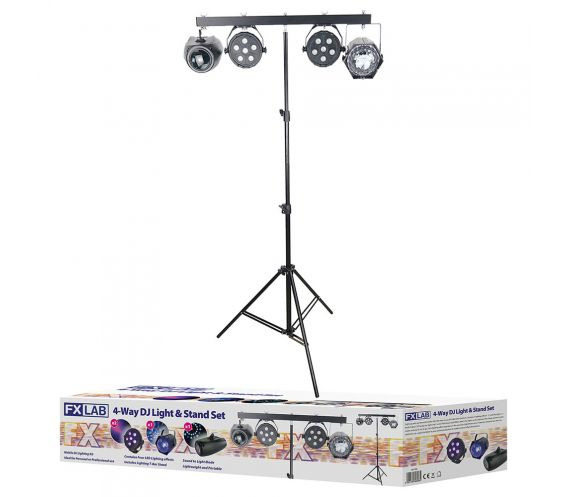 FX Lab 4-Way DJ Light & Stand Set