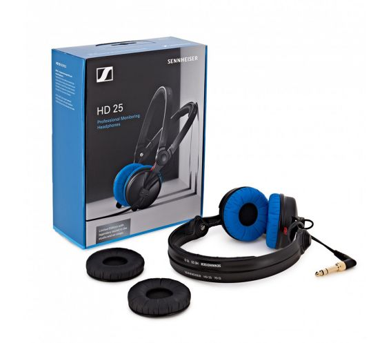 Sennheiser HD 25 Pro DJ Headphones Ltd Edition Blue