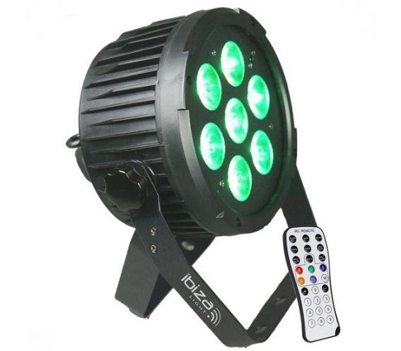 Ibiza Light PARLED712IR 7x 12W LED Par Can Effect