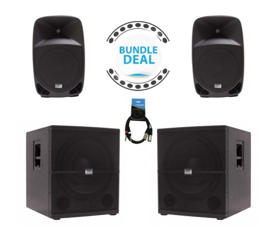 """Italian Stage 15"""" Loudspeaker and Sub Package Deal"""