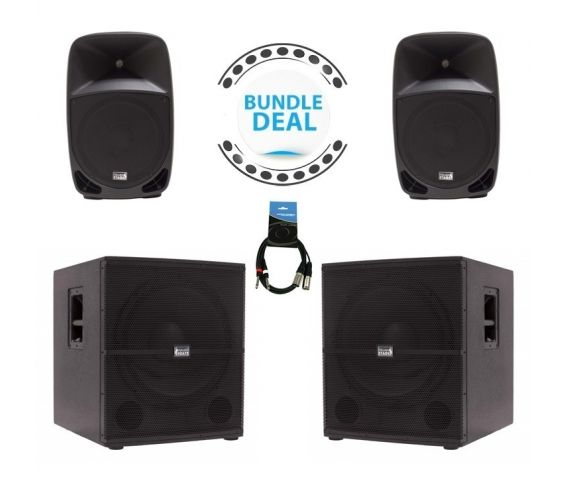 """Italian Stage 12"""" Speaker System and Sub Bundle Deal"""