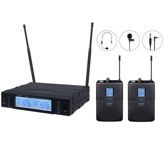 Kam KWM1960 BP V2 UHF Dual Bodypack Microphone Wireless System