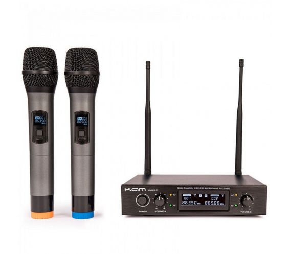 Kam KWM1932 V3 Twin Professional UHF Wireless Microphone System Main Image