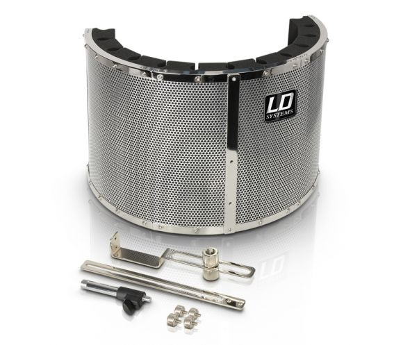 LD Systems RF 1 - Microphone Screen, Reflection Filter / Shield, Portable Vocal Booth