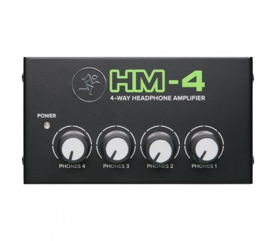 Mackie HM-4 4-Way Headphone Amplifier Front