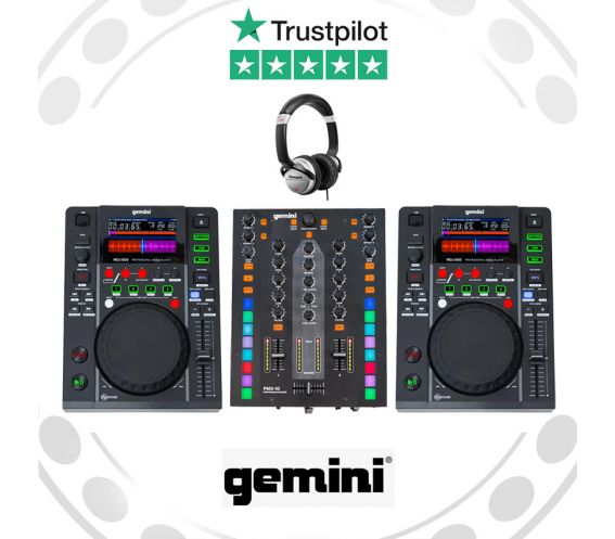 Gemini MDJ-500 & PMX-10 DJ Equipment Package