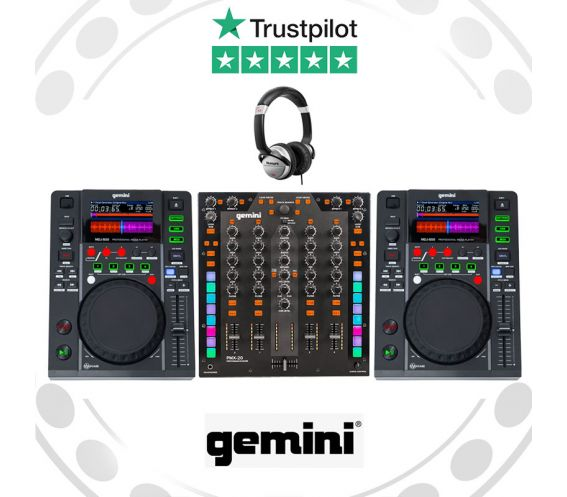 Gemini MDJ-500 & PMX-10 DJ Equipment