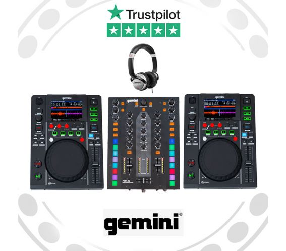 Gemini MDJ600 & PMX-10 DJ Equipment Package