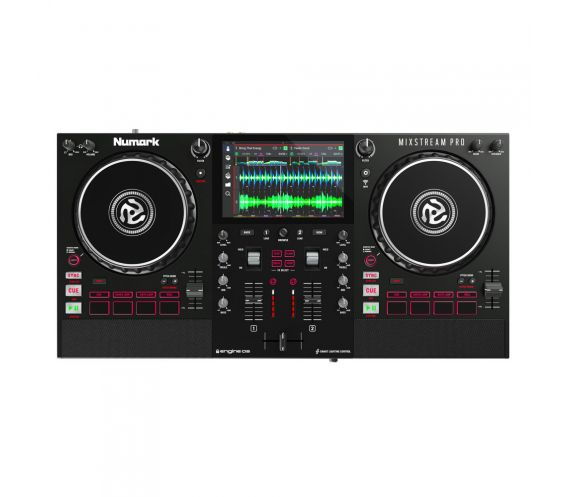 Numark Mixstream Pro Standalone Streaming DJ Controller with WiFi and Speakers mix stream