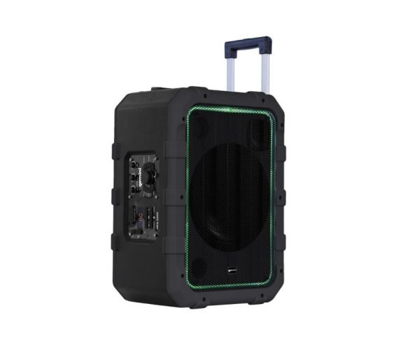 Gemini MPA-2400 Portable PA Speaker Grey Side Angle