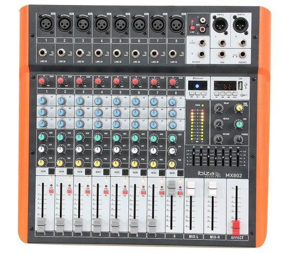 Ibiza Sound MX802 8-Channel Mixer