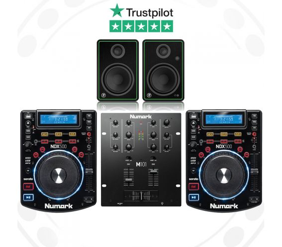 Numark NDX500, M101 and Mackie CR4-X Pro DJ Package