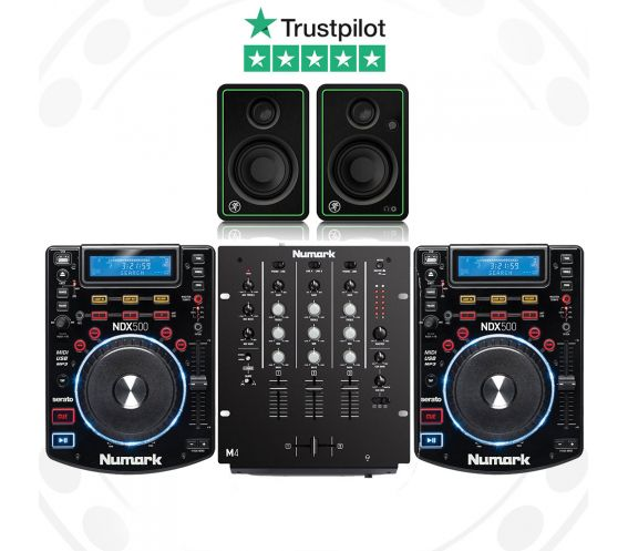 Numark NDX500, M4 and Mackie CR3-X Pro DJ Package