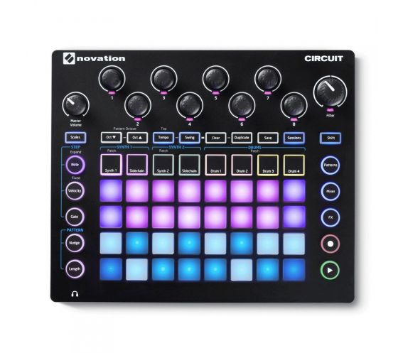 Novation Circuit Groove Box Top
