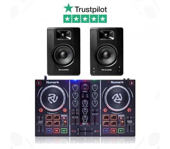 Numark Party Mix and M-Audio BX4 Speaker DJ Package
