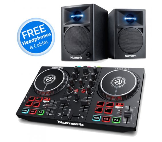 Numark Party Mix mk2 and AV32 DJ Equipment Package