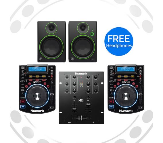 Numark NDX500, M101 and Mackie CR4 Pro DJ Package