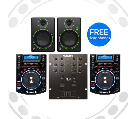 Numark NDX500, M101usb and Mackie CR4 Pro DJ Package