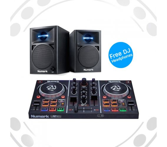 Numark Party Mix and AV32 DJ Equipment Package