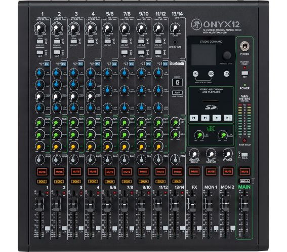 Mackie Onyx 12 Channel Analog Mixer Front Image