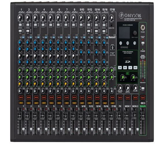 Mackie Onyx 16 Channel Analog Mixer Front Image