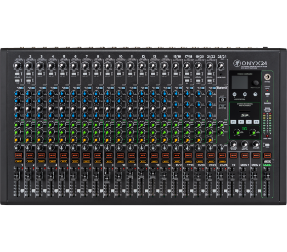 Mackie Onyx 24 Channel Analog Mixer Front Image