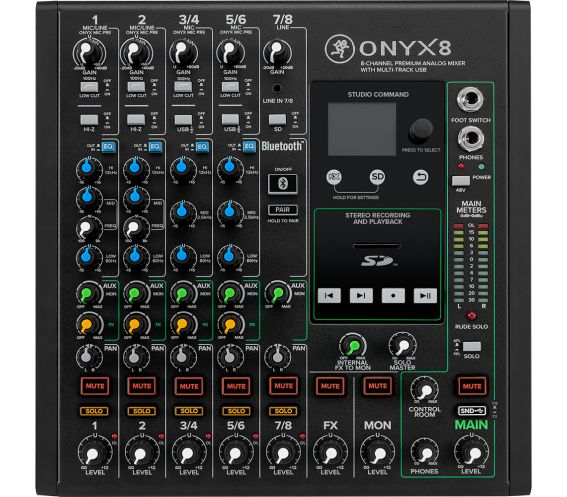 Mackie Onyx 8 Channel Analog Mixer Front Image