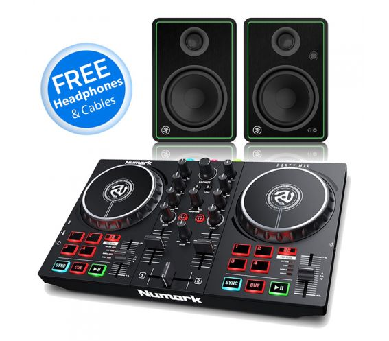 Numark Party Mix mk2 and Mackie CR4-X Speaker DJ Package