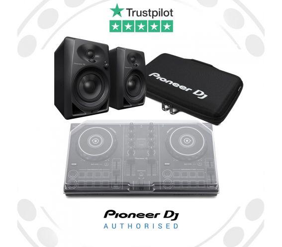 Pioneer DDJ-200, DM-40 Speakers, Decksaver and Carry Bag Package Deal