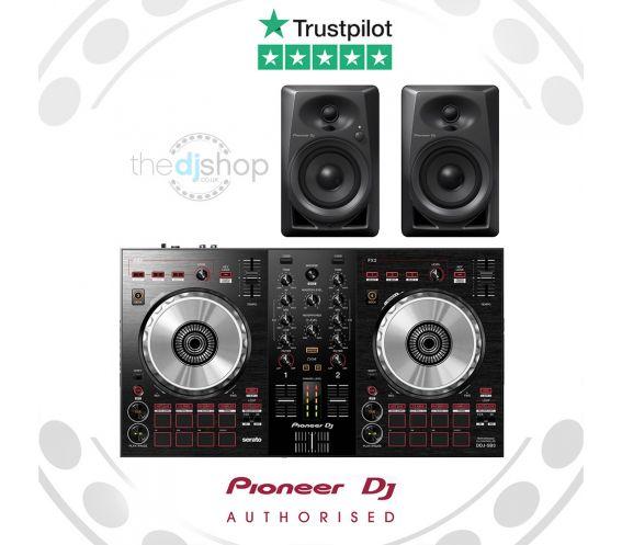 Pioneer DDJ-SB3 + DM-40 DJ Controller Package