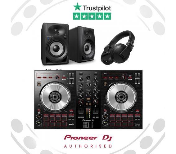 Pioneer DDJ-SB3, DM-40BT, and HDJ-X5 DJ Equipment Package