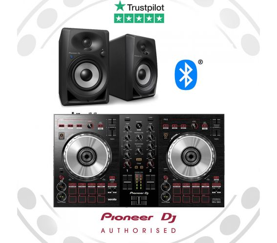 Pioneer DDJ-SB3 + DM-40BT DJ Controller Package