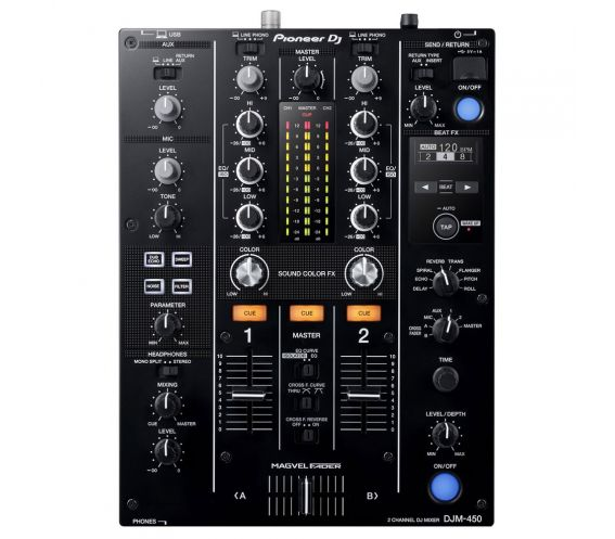 Pioneer DJM-450 2-Channel DJ Mixer with FX Top Image