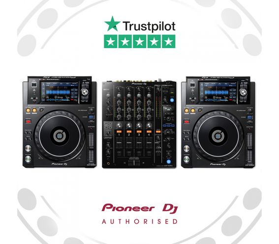 Pioneer XDJ-1000MK2 and DJM-750mk2 DJ Equipment Package