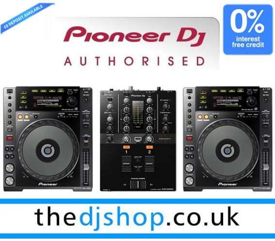 Pioneer CDJ-850K and DJM-250 DJ Package
