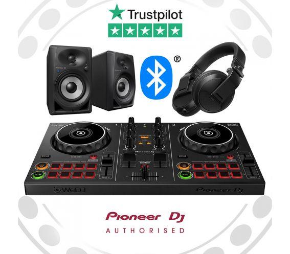 Pioneer DDJ-200 Wireless DJ Controller Bundle with DM40BT and HDJ-X5BT