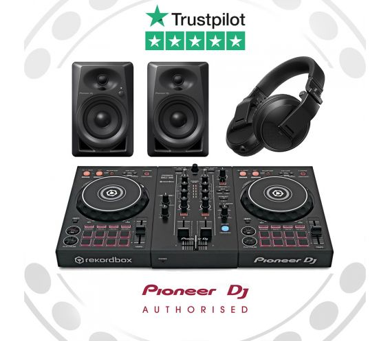 Pioneer DDJ-400, HDJ-X5 and DM-40 Complete Starter DJ Equipment Package