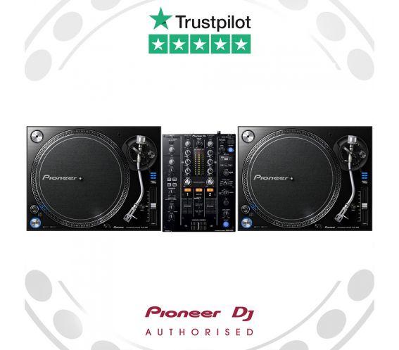 Pioneer PLX-1000 DJ Turntable and DJM-450Mk2 Mixer Package