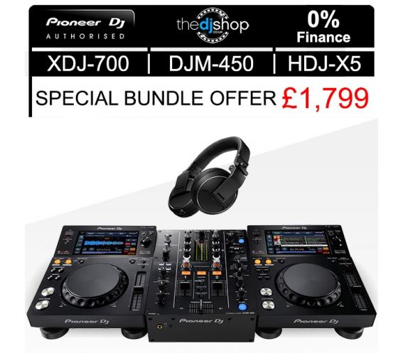 Pioneer XDJ-700/DJM-450 DJ Equipment Package Deal