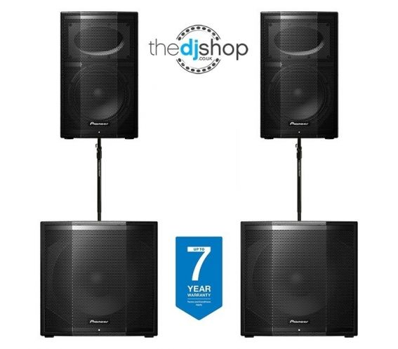 Pioneer XPRS10 + XPRS115S Complete Active PA System
