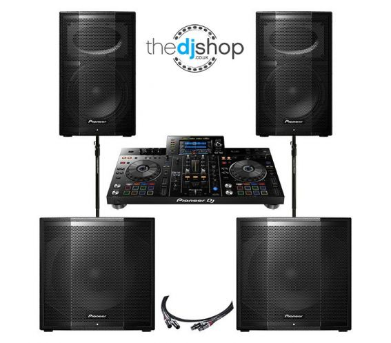 Pioneer XDJ-RX2, XPRS10 and XPRS115S Complete DJ Equipment Package