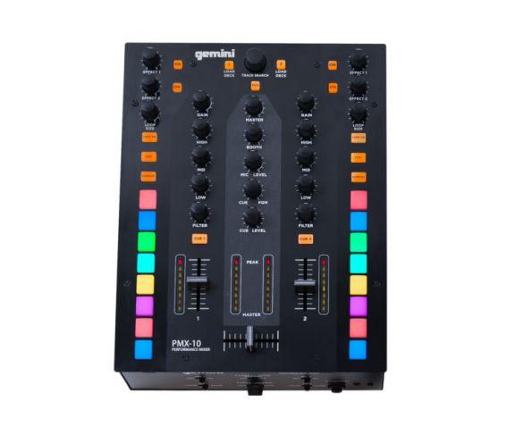 Gemini PMX-10 2-Channel DJ Battle Mixer Top View