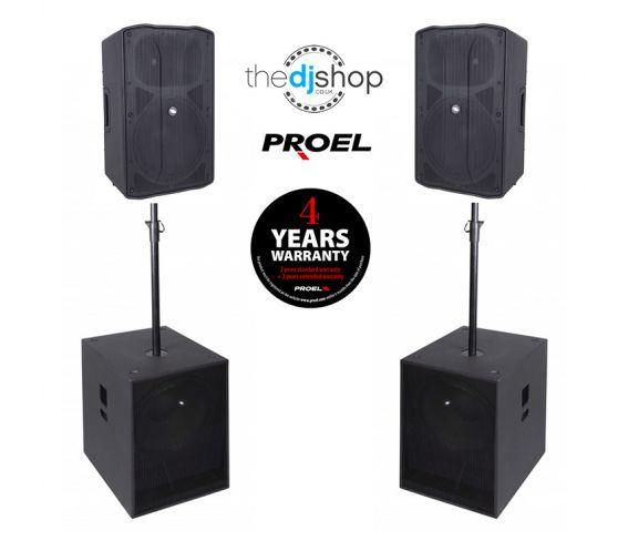 Proel Flash 12 Active PA Speaker Package Deal