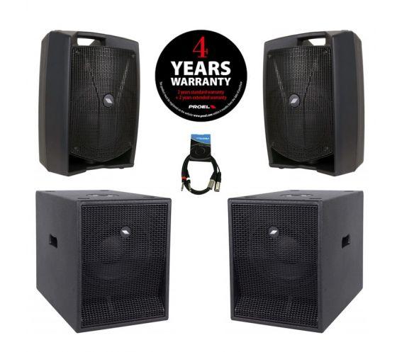 Proel V8 Plus PA Speaker Package
