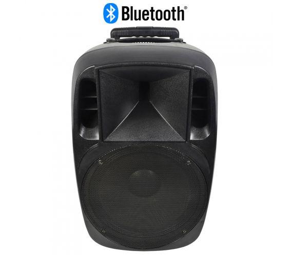 QTX Mixcab-15 Portable PA System 150W with Mixer + USB/SD/FM/BT