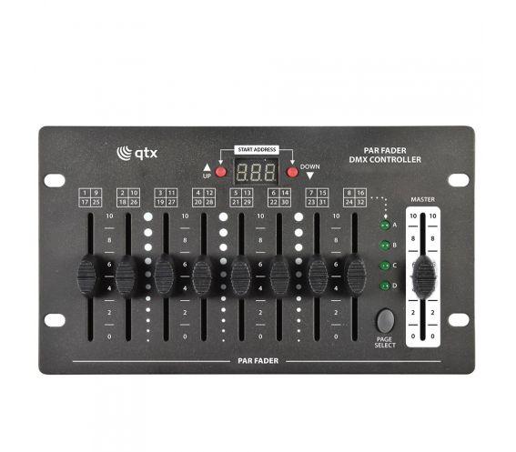 QTX PAR Fader DMX Controller Top
