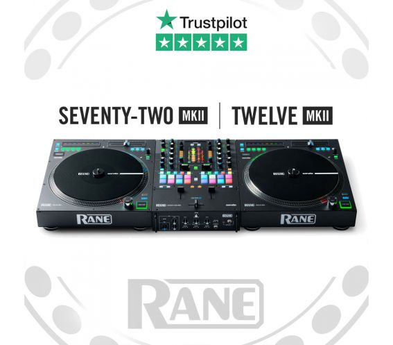 RANE Seventy-Two MK2 and Twelve MK2 Digital DJ Equipment Package