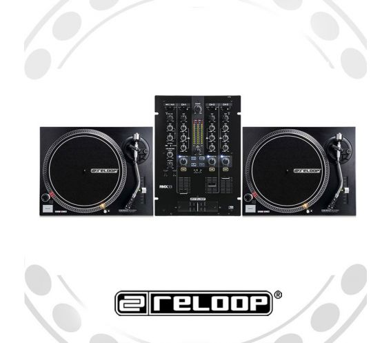 Reloop RP-2000Mk2 Turntable and RMX-33i Mixer DJ Equipment Package